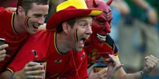 supporters belges diable rouge